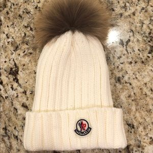 Moncler Fur Pom Beanie Winter Hat